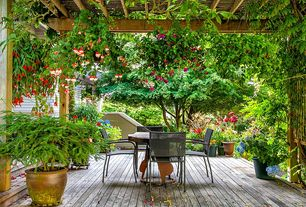 Eclectic Deck with Trellis
