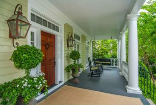 Traditional Porch with Transom window, Porch swing, Wrap around porch