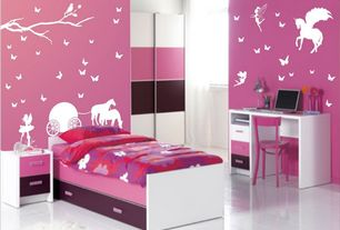 Contemporary Kids Bedroom with Jackie Twist Grape Gatsby Bedding Comforter Set, simple marble tile floors, interior wallpaper