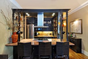 Kitchen with Complex Marble, Wall sconce, Safavieh bethel barstool, Flush, Kitchen island, Crown molding, U-shaped