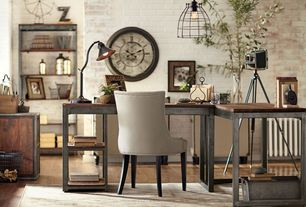 Eclectic Home Office with Hardwood floors, Kenroy Home Amherst 1 Light Adjustable Desk Lamp in Oil Rubbed Bronze
