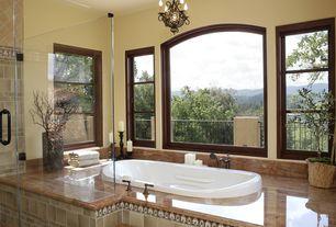 Mediterranean Master Bathroom with Nexus 4x4-inch Forest Vinyl Self-sticking Wall/ Decorative Tiles