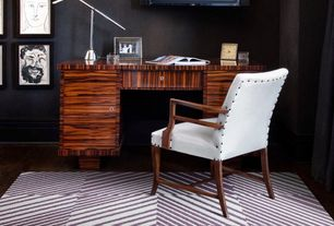 Contemporary Home Office with Hardwood floors, Maple - Adirondack Brown 5 in. Engineered Hardwood Wide Plank