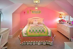 Cottage Kids Bedroom with Carpet, Munire Sussex Dresser with 7 Drawers, Standard Furniture Reagan Panel Bed, paint2