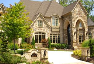 Traditional Exterior of Home with Pathway, Arched window