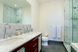 Modern Master Bathroom with Double sink, Master bathroom, Complex Marble, frameless showerdoor, Complex marble counters