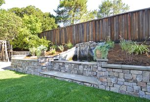 Traditional Landscape/Yard with Fence, Raised beds