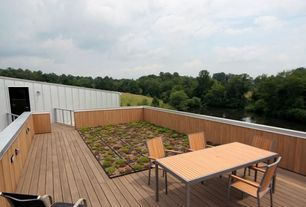 Modern Deck with Raised beds
