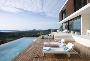 Modern Deck with Lap pool, Pathway, Infinity pool