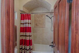 Mediterranean Full Bathroom with specialty door, Handheld showerhead, Shower, Standard height, tiled wall showerbath, Bathtub