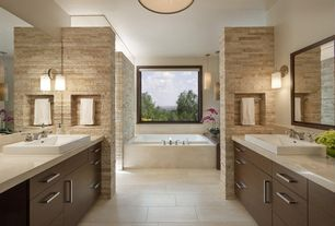 Contemporary Master Bathroom with Kohler tresham drop-in sink