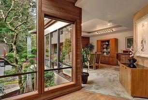 Contemporary Hallway with Hardwood floors, Wildon home china cabinet, American drew miramar 2 drawer media chest