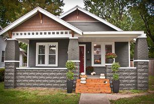 Craftsman Exterior of Home with Fence, Pathway, Glass panel door