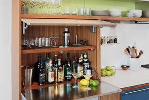 Contemporary Bar with Built-in bookshelf