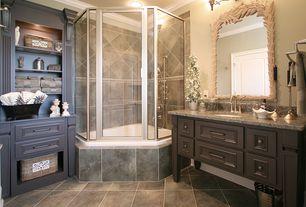 Traditional Master Bathroom with Kohler - Alteo, Centerset Bathroom Sink Faucet, Simple Granite, Master bathroom