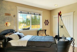 Traditional Kids Bedroom with Olivia & wills fine childrens furniture - captain wills pirate bed, Hardwood floors