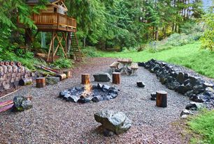 Rustic Patio with Fire pit