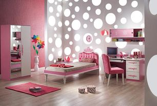Kids Bedroom with Pb teens ooh la la armchair, Furinno click-n-easy armoire, Built-in bookshelf, Pendant light, High ceiling