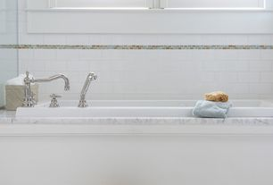 Traditional Master Bathroom with Jeffrey Court Bellagio Pebble Brick 12 in. x 12 in. x 8 mm Glass Marble Mosaic Wall Tile