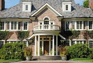 Traditional Exterior of Home with Paint 1, Brick exterior, Colonial style home