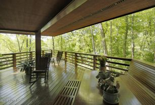 Asian Deck with Wrap around porch