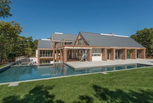 Modern Swimming Pool with Pool with hot tub, exterior stone floors