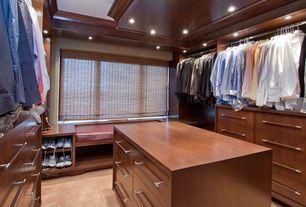 Craftsman Closet with Built-in bookshelf, WAC Lighting R-532-BN Brushed Nickel Voltage Recessed Light, Carpet, Window seat
