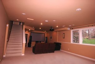Home Theater with Carpet