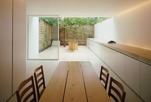 Modern Dining Room with Concrete tile