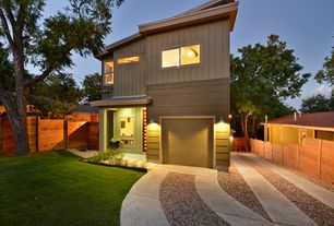 Modern Garage with High ceiling, Concrete tile , Wall sconce
