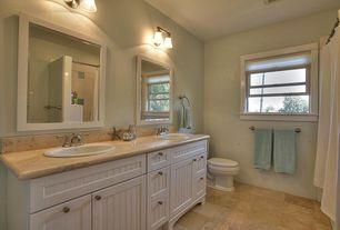Country Full Bathroom with Flush, Golden lighting 5221-2 ch-mbl chrome brookfield 2 light bathroom vanity light, Limestone