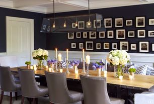 Traditional Dining Room with Paint