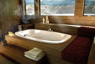 Country Master Bathroom with Hardwood floors, Master bathroom, Exposed wood wall, Sauna, PINE FOSSIL, Wood Paneling/flooring
