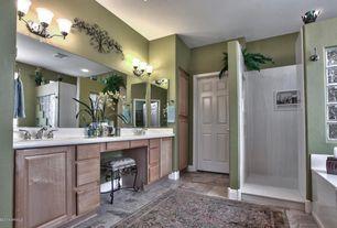 Traditional Master Bathroom with Built-in bookshelf, Undermount sink, Master bathroom, Home Dynamix Triumph Green Area Rug