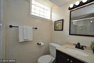 Traditional Full Bathroom with Raised panel, Simple Granite, Flush, Simple granite counters, Undermount sink
