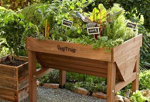 Craftsman Landscape/Yard with Patio garden - vegtrug, Chalkboard stake signs, Herb garden