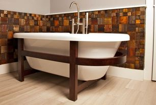 Craftsman Full Bathroom with Modern Europe Wood Mosaic Tiles 3D Wall Panel TV Living Room Wall Backsplash Puzzle Home