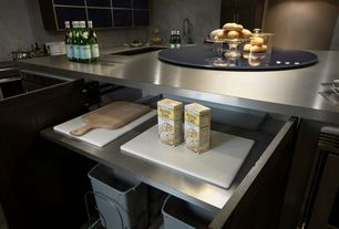 Modern Kitchen with Steve Silver Furniture Avenue Lazy Susan, Stainless steel countertop, Paint