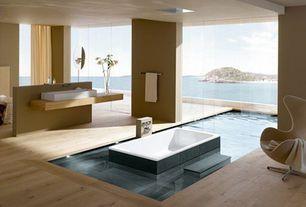 Contemporary Master Bathroom with Master bathroom, Design within reach - arne jacobsen egg chair, Hardwood floors