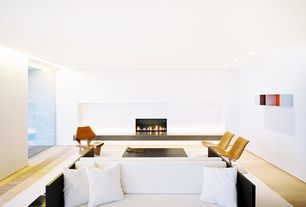 Modern Living Room with Bernhardt Design CP2 Lounge Chair, Lange Production Grete Jalk GJ Chair, Judd Foundation Bed #32