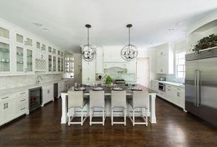Kitchen with complex granite counters hardwood floors kitchen