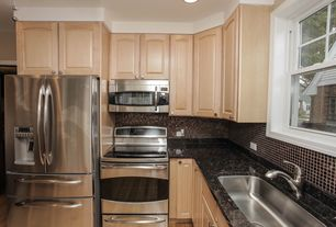 Traditional Kitchen with Stonemark granite baltic brown, LG french door refrigerator