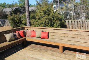 Craftsman Deck with Fence, Simone Outdoor Pillow
