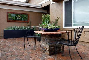 Eclectic Patio with Pathway, Raised beds, exterior brick floors