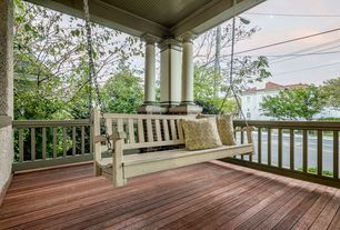 Traditional Porch with Porch swing, Pathway, Paint, Deck Railing