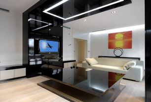 Contemporary Living Room with Laminate floors