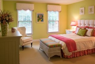 Modern Kids Bedroom with Carpet, flush light, no bedroom feature, Standard height, double-hung window