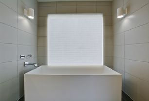 Contemporary Master Bathroom with Dolan acrylic freestanding tub, Wall sconce, Freestanding, Bathtub, Standard height