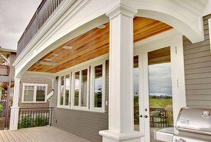 Traditional Porch with Wrap around porch, French doors