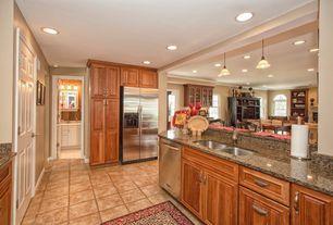 Mid Range Tan Kitchen Simple Granite Counters L Shaped